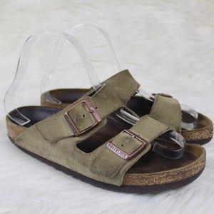 Birkenstock Arizona Green Suede Sandals Size 36 5